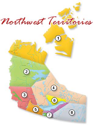 Map of Northwest Territories